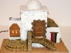 Vivienda con escalera y establo Nativity, Bookends, Portal, Home Decor, Husband, Stables, Stairway, Dioramas, Decoration Home