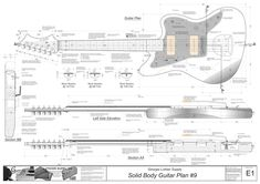 Solid Body Electric Guitar Plan #9: Electronic Version