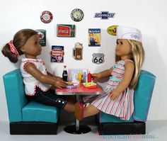 How to Make American Girl Diner Booths