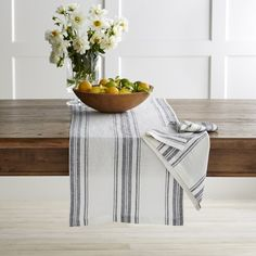 French Stripe Table Runner