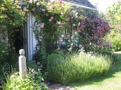 On the Bloomsbury trail - Leonard and Virginia Woolfs garden by the vintage cottage, via Flickr