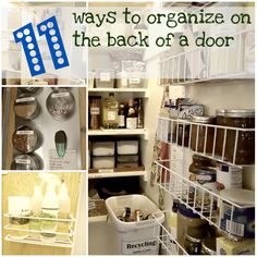 11 maneras de organizar en la parte posterior de una puerta