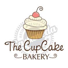 Premade Cupcake Logo by GLORIACASTANEDA on Etsy, $30.00