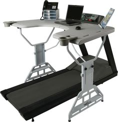 TrekDesk Treadmill Desk. I need this!! Then I can finally start working out again and not have to worry about choosing whether to study for nursing or work out! I could finally do both! Haha!