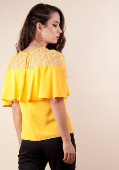 Lady, Ruffle Blouse, Tops, Women, Fashion, Moda, Fashion Styles, Fashion Illustrations, Woman