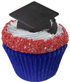 Graduation Cap Cupcake Picks - 24