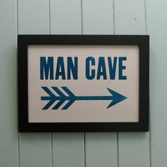 'Man Cave' Letterpress Print  by Thursday Press from Not On The High Street