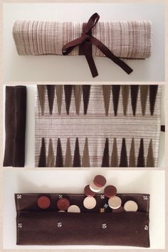 DIY Backgammon- place mat, felt, checkers and dice