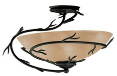 Kenroy Home 90905 Twigs 1 Light Flush Mount Ceiling Fixture Bronze Indoor Lighting Ceiling Fixtures Flush Mount