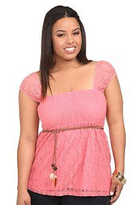 Pink Crochet Smocked Emma Tank Top | very detailed and cute