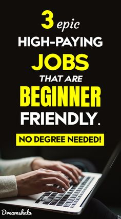 Top 3 Master Ways To Earn Solid Income Online For epic high-paying jobs that are beginner friendly. No degree needed. High Paying Careers, Good Paying Jobs, Make Money On Internet, Make More Money, Online Earning, Earn Money Online, Stress Free Jobs, Jobs For Single Moms, Jobs Without A Degree