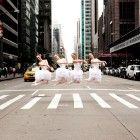 Australian ballet dancers on Sixth Avenue in New York City