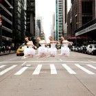 Australian ballet dancers on Sixth Avenue in New York City