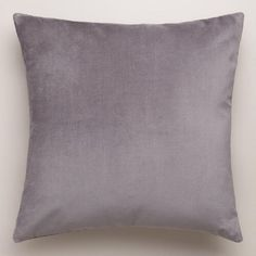 Our Gray Velvet Throw Pillows are classic accents, designed to update any room with a plush feel in a lovely hue. Made of luxuriously soft 100% cotton velvet, they're an affordable way to refresh your décor in an instant.