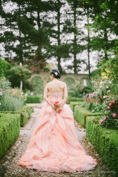 Blush wedding gown <3    Sneak Peek: Enchanted - Jenny Sun Photography Blog
