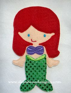 Mermaid Princess outfit for 5x7 nonpaper doll