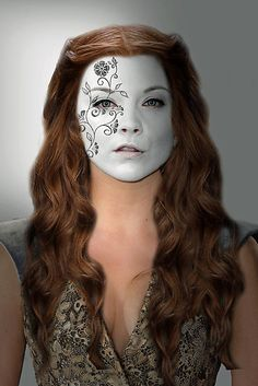 Game of Thrones. Margaery Tyrell House Flower War Paint by HilaryHeffron