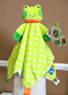 Taggies Plush Frog Security Blanket $15