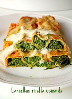 Aujourd'hui c'est une recette italienne de cannelloni ricotta épinard , un plat très gourmand et familial pour les derniers jours de froid!