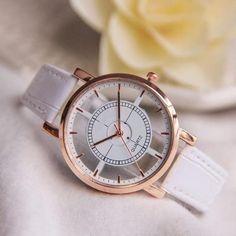 Relogios 2017 Fashion Women Neutral Hollow Analog Quartz Wrist Delicate Watch Luxury Casual W Casual Watches, Cool Watches, Watches For Men, Wrist Watches, Ladies Watches, Cheap Watches, Elegant Watches, Stylish Watches, Women's Watches