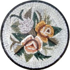 """16"""" Marble Mosaic Pattern Art Tile Accent Insert by Mozaico. $115.00. Mosaics have endless uses and infinite possibilities! They can be used indoors or outdoors, be part of your kitchen, decorate your bathroom and the bottom of your pools, cover walls and ceilings, or serve as frames for mirrors and paintings."""