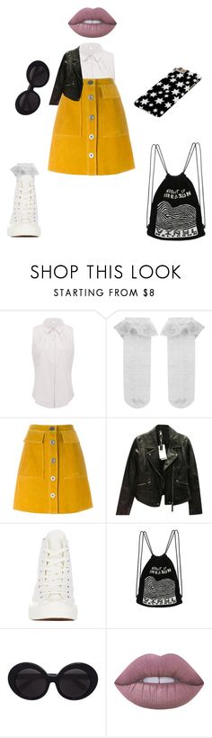 """""""🔓"""" by lena1612 ❤ liked on Polyvore featuring Monsoon, M.i.h Jeans, Zara, Comme des Garçons, Linda Farrow and Lime Crime"""