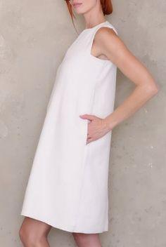 3f16d5b765 Sleeveless Shift Dress PDF Sewing Pattern. Linen ...