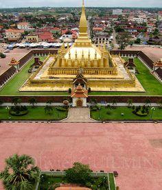 Pha That Luang . Vientiane Laos                                                                                                                                                                                 More