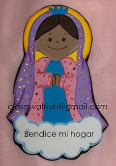 Virgencita en foamy