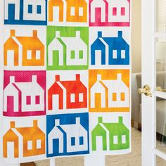 Mod Schoolhouse Quilt Pattern made with GO! Schoolhouse fabric cutting die   Accuquilt
