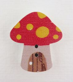 Pack of three wooden craft buttons - toadstools/mushrooms £0.95 Perfect for card making, collage, multi-media wall hangings, scrapbooking etc