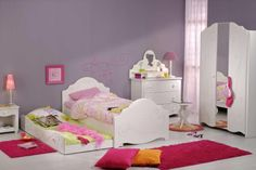 Children's room in white - interior design examples Wood Nursery, White Nursery, Nursery Room, Interior Design Examples, White Interior Design, White Kids Room, White Rooms, Girl Nursery Colors, Twin Platform Bed