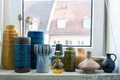 vintage ceramics, pottery, vintage, ceramics, collection, home decor