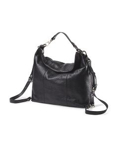 aaa0e083c772 image of Made In Italy Leather Hobo Tj Maxx