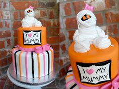 Halloween Baby Shower Idea!!! I think I'm going to make this cake for myself.