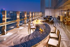 The Azure Qiantang, a Luxury Collection Hotel, Hangzhou - Panorama Signature Restaurant & Bar - Outdoor Terrace