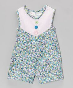 Take a look at this Pink & Green Yoke Romper - Infant by CyBaby on #zulily today!