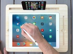 New display Dock for Apple iPad Pro ″ with Apple Pencil Slot ,eco friendly natural bamboo. It's compatible with iPad Pro ″ and Apple Pencil. Stylus Dock: Designed for Apple Pencil. Ipad Air Pro, Ipad Pro 12 9, Iphone 5se, Apple Iphone, Radios, Slot, Apple Pencil, Smart Desk, Ipad Hacks