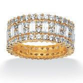 Wayfair - Palm Beach Jewelry Gold Plated Cubic Zirconia Eternity Band