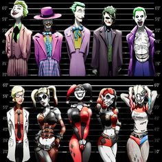 Joker and Harley Quinn Line-Ups. 2 11x17 Prints by Epicwee