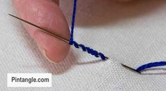 step by step tutorial on how to work bullion stitch 2