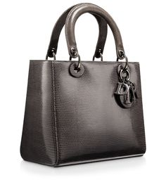 LADY DIOR - Lady Dior bag in mink-grey leather
