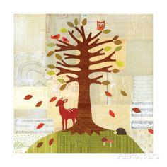 Seasons - Fall Tree Giclee Print by Lorena Siminovich at AllPosters.com