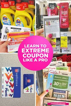 Learn how to extreme coupon with me and save hundreds of dollars!