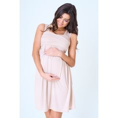 Těhotenské šaty letní béžové barvy - manozo.cz Maternity Fashion, Maternity Dresses, Dresses For Work, Summer Dresses, Pink Dress, Womens Fashion, Outfits, Amazon, Pink Sundress