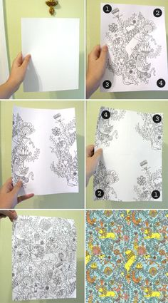 How to Make a Repeat Pattern - Julia Rothman at Design Sponge  http://www.juliarothman.com/