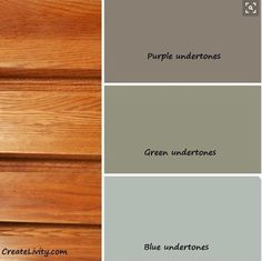 Great color base information - for accenting the honey oak kitchen cabinet look