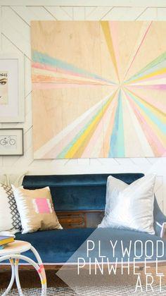 Plywood Pinwheel Art