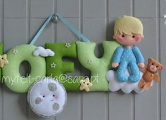 Sweet Dreams Felt Name Banner Baby Boy Room by feltcutemobile