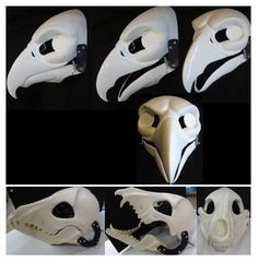 Cosplay Tutorial, Cosplay Diy, Cosplay Costumes, Crane, Paintball Mask, Japanese Mask, Animal Skeletons, Where Is My Mind, Writing Art